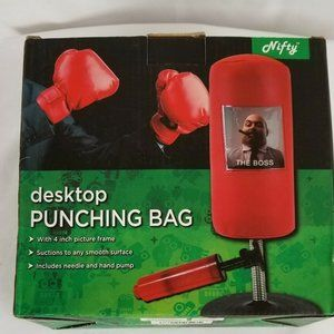 Nifty Desktop Punching Bag Red New in Box